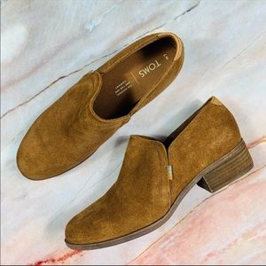 NEW Toms Shaye Suede Ankle Booties